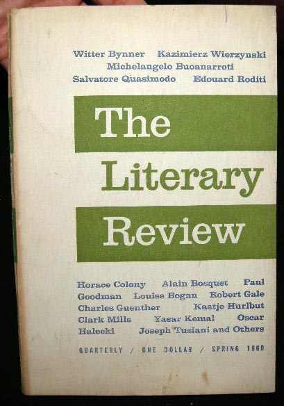 The Literary Review An International Journal of Contemporary Writing Volume 3 Spring 1960 Number 3. Literary Review.