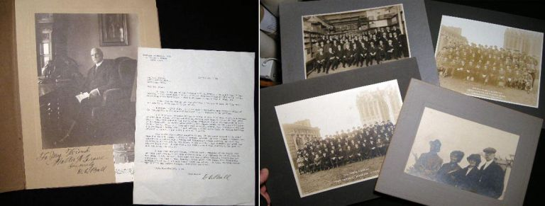 C. 1917 - 1921 Group of 5 Photographs of the Employees and Principals of the Oakley Chemical Co. Of New York, with a TLS and Photo Signed from David C. Ball of the Company. Americana - Chemical Engineering - Oakley Chemical Co.