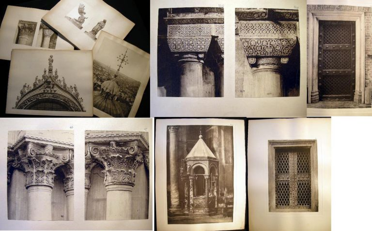 C. 1890s Group of Gravure Architectural Studies of the Ornamental Columns & Building Details of St. Mark's Basilica Venice. Art - Italy - Venice - Architecture.