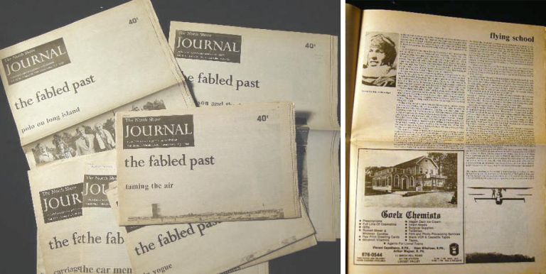 1989 - 1993 Group of 8 Issues of the North Shore Journal, the Fabled Past Articles. Americana - Long Island - History.