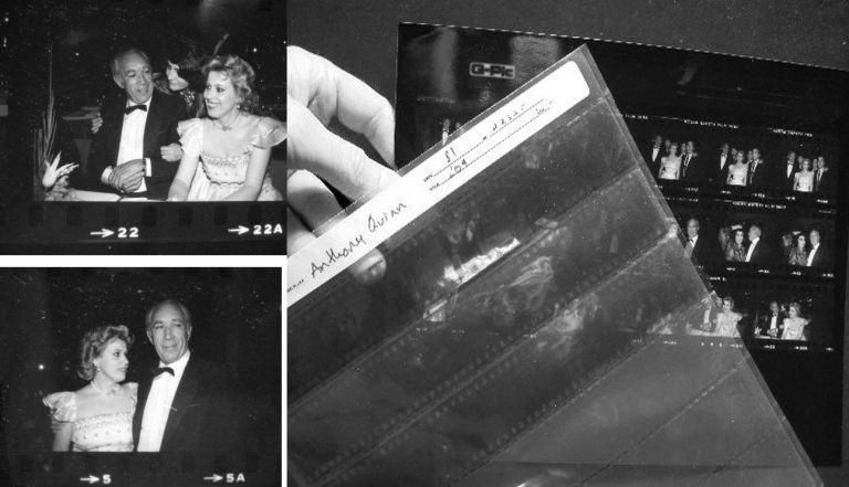 1981 Group of 35mm Photographic Negatives and Contact Prints of Anthony Quinn. Photography - Entertainment History - Anthony Quinn.
