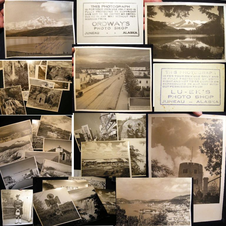 Circa 1950s Collection of Photographs: Alaska, South Africa, Europe By Frank J. Hurley Jr. And a Few By Commercial Studios. Americana - 20th Century - Photography.