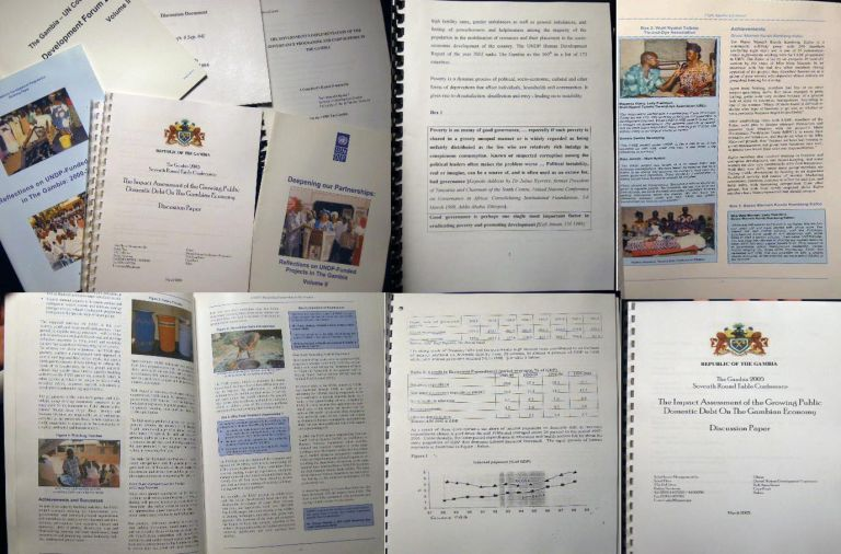 2002 - 2005 Group of Research Papers & Reports Concerning the United Nations Development Programme in The Gambia. Africa - United Nations - Gambia.