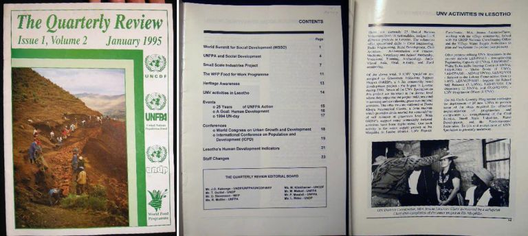 The Quarterly Review Issue 1, Volume 2 January 1995 UNCDF UNFPA UNDP World Food Programme Lesotho. Africa - Development - 20th Century - Lesotho.