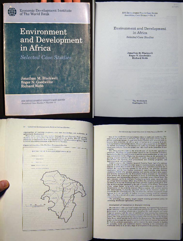 Environment and Development in Africa Selected Case Studis EDI Development Policy Case Series Anaylytical Case Studies No. 6. Africa - 20th Century - Development - Environment - World Bank.