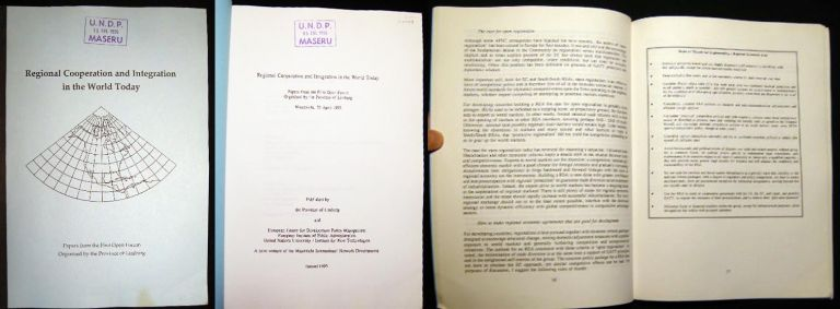 Regional Cooperation and Integration in the World Today Papers from the First Open Forum Organised By the Province of Limburg Maastricht, 20 April 1993. United Nations - World Politics - Policy.