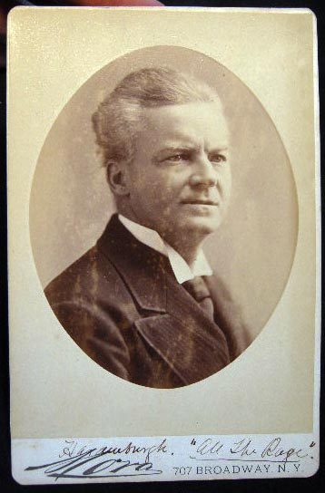 """Circa 1882 Cabinet Card Photograph of an Unidentified Actor in the Play """"All The Rage"""" By Mora New York. Americana - 19th Century -Theatre - Photography."""