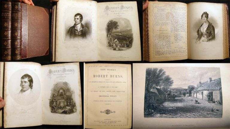 The Works of Robert Burns; Illustrated By an Extensive Series of Portraits and Authentic Views. With a Complete Life of the Poet: An Essay on His Genius and Character, By Professor Wilson. Robert Burns.