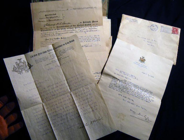 1913 - 1914 Archive of Manuscript Documents Regarding the Founding of the NY State School of Agriculture on Long Island (Farmingdale) & the Appointment of Trustee Edward H.L. Smith of Smithtown to the Board. Americana - New York - Long Island - Education History - Farmingdale.