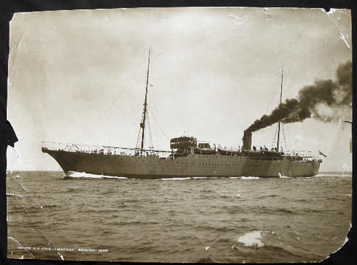 1922 Large Format Photograph of Cable Ship John W. MacKay By Frank & Sons, Marine Photographers, South Shields. Great Britain - 20th Century - Photography - Nautical History - Cable Communications.