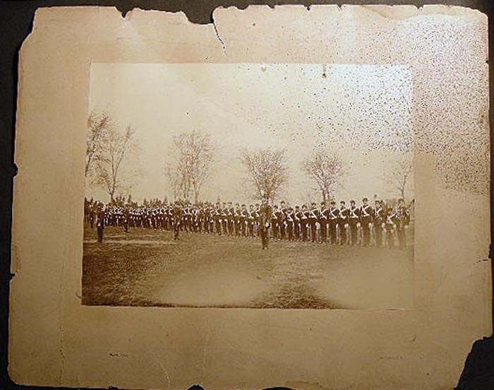 Circa 1875 Military Academy Full Dress Uniform Group Photograph By Pach Brothers New York. Americana - 19th Century - Photography - Military History - Military Academy - Pach Brothers.