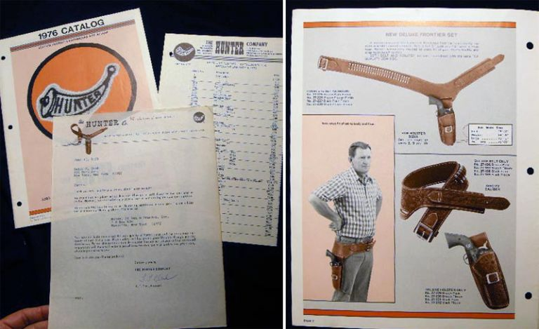 1976 Catalog The Hunter Company Leather Products Engineered for Action. Americana - 20th Century - Guns - Holsters - Leather Working - Business History.