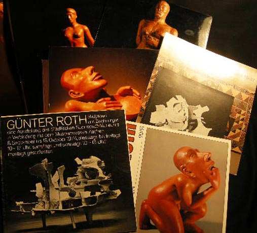 1974 - 1991 Collection of Artists' Catalogs, Ephemera & Photographs of Sculptural Works By Gunter Roth. Art - 20th Century - Gunther Roth - Sculpture - Modern Art - Contemporary Art.