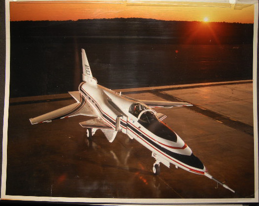 1984 Photographic Record of A Visit to Grumman Aerospace Corporation Calverton, Long Island N.Y. By Lawyer, Politician & USAF Veteran Stanley Fink & Assemblyman Paul E. Harenberg Examining the Experimental X-29 Jet. Americana - 20th Century - New York - Long Island - Aviation - Grumman Corporation.