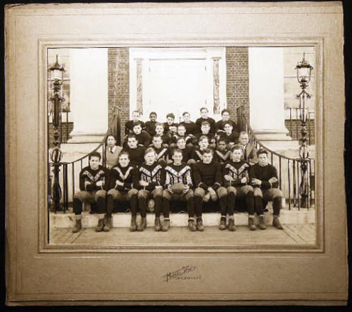 C. 1930 Large Format Photograph of the Southampton Long Island New York High School Football Team By Morris Studio. Americana - 20th Century - Photography - Sports History - Southampton Long Island.