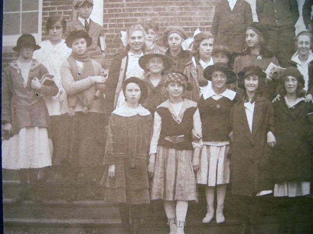 Circa 1915 Class Photograph - One Girl Scout. Americana - 20th Century - Photography - education.