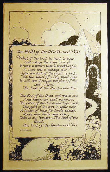 The End of the Road - and You By J.P. McEvoy and Illustrated By Carmen L. Browne. Americana - Art - 20th Century - Carmen L. Browne.