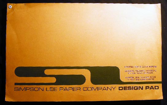 Simpson Lee Paper Company Design Pad Colored Text & Cover Papers Corsican - Talisman - Vicksburg - Vellum -Teton - Telemark Simpson Lee's Planned Range of Text and Cover Papers. Art - 20th Century - Design - Graphic Arts - Paper - Simpson Lee Paper Company.