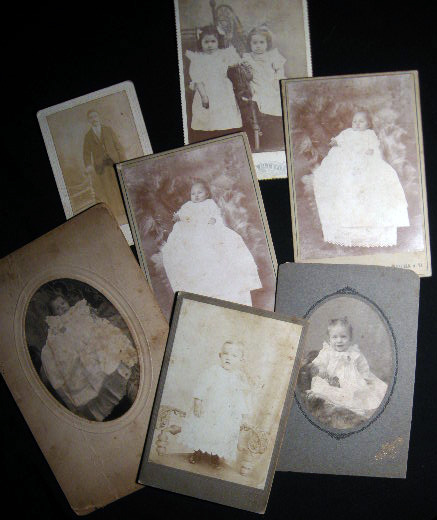 Circa 1880 Group of 7 Photo Portrait Cabinet Cards: Bluefield West Virginia & Pocahontas Virginia: Studios of Hicks & Echols, Poff & Hicks, P.W. Poff & H.W. Hicks. Americana - 19th Century - Photography - Pocahontas Virginia - Bluefield West Virginia.