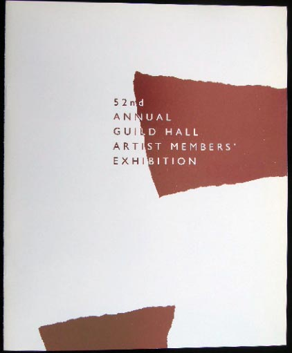 52nd Annual Guild Hall Artist Members' Exhibition March 18th - April 21st, 1990. Americana - 20th Century - Art - East Hampton - Long Island - Guild Hall.