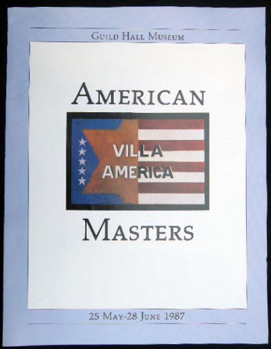 American Masters an Exhibition Inaugurating the Renovation of Guild Hall Museum 25 May - 28 June 1987. Americana - 20th Century - Art - East Hampton - Long Island - Guild Hall.