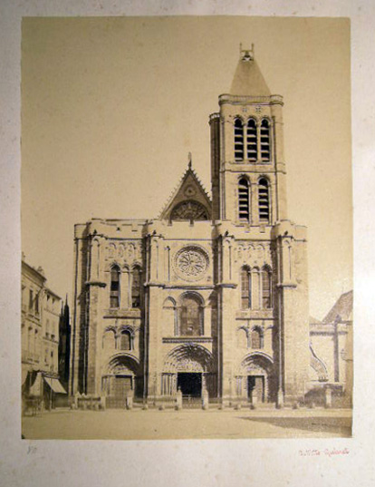 Circa 1870 Large Format Photograph of the Basilica St.-Denis Paris France By Achille Quinet. France - 19th Century - Photography - Paris - Achille Quinet.