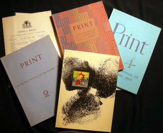 Print Quarterly Journal of the Graphic Arts Volume I Numbers 1-4 (with) Index. Art - Design - Typography - 20th Century - Graphic Arts - Print Quarterly.
