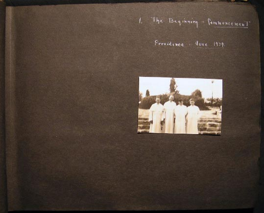1939 -1940 Photograph Album Education and Ordination of Catholic Priests Including St. Rose Priory Kentucky. Americana - 20th Century - Photography - Catholicism - Religious Orders.