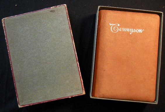 The Poetical Works of Alfred, Lord Tennyson Poet Laureate with a Biographical and Critical Introduction By Eugene Parsons, the Publisher's Boxed & Labeled Touraine Edition in Full Padded Ooze Calf. Alfred Tennyson.