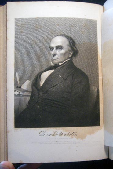Bound Volume of Eulogies, Sermons, Orations, Discourses and Biographical Commemorations Regarding the Life and Death of Daniel Webster. Americana - Political History - Biography - Daniel Webster.