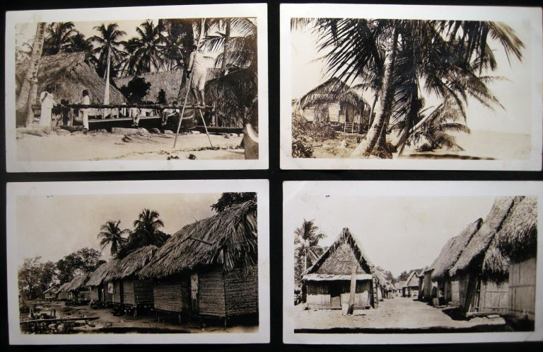 1935 Four Snapshot Photographs of Indigenous Homes & Landscapes Panama Canal Zone. Panama - 20th Century - Photography - Canal Zone.