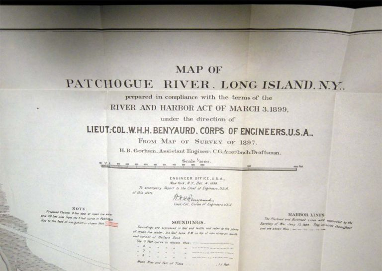 Letter from the Secretary of War, Transmitting, with a Letter From The Chief of Engineers, Report of Examination of Patchogue River, New York. Americana - 19th Century - New York State - Patchogue River Long Island.