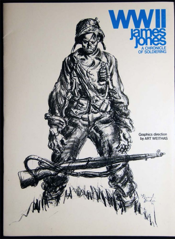 1975 Publishers Promotional for WWII James Jones A Chronicle of Soldiering. Americana - 20th Century - World War II - Publishers Promotional - James Jones.