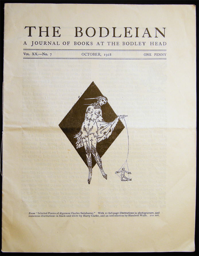 The Bodleian a Journal of Books at the Bodley Head Vol. XX. No. 7 October, 1928. Publishing History - 20th Century - John Lane The Bodley Head Limited.
