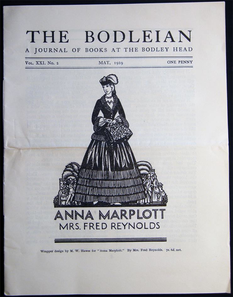 The Bodleian a Journal of Books at the Bodley Head Vol. XXI. No. 2 May, 1929. Publishing History - 20th Century - John Lane The Bodley Head Limited.