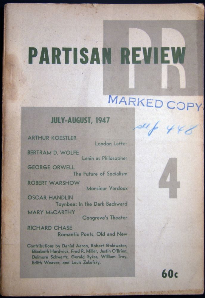 Partisan Review Volume XIV, No. 4 July-August, 1947. Americana - 20th Century - Periodical - Literature - Partisan Review.