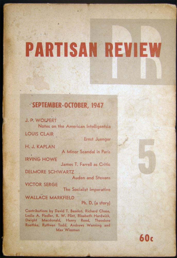 Partisan Review Volume XIV, No. 5 September-October, 1947. Americana - 20th Century - Periodical - Literature - Partisan Review.