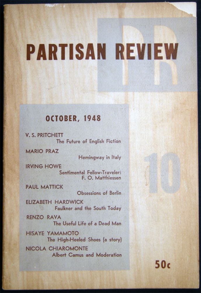 Partisan Review October, 1948 Volume XV, No. 10. Americana - 20th Century - Periodical - Literature - Partisan Review.