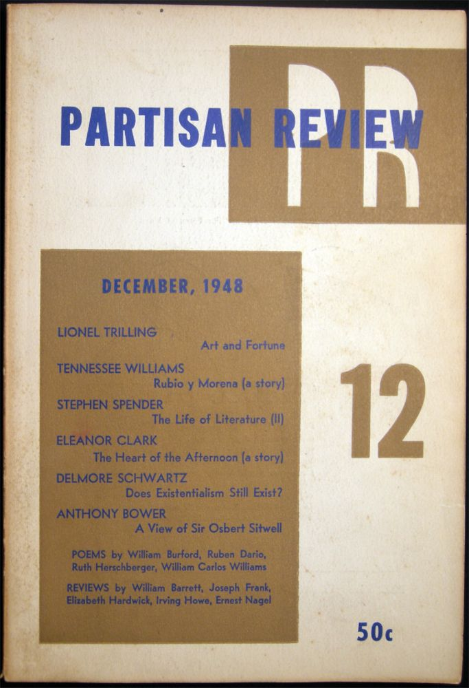 Partisan Review December, 1948 Volume XV, No. 12. Americana - 20th Century - Periodical - Literature - Partisan Review.