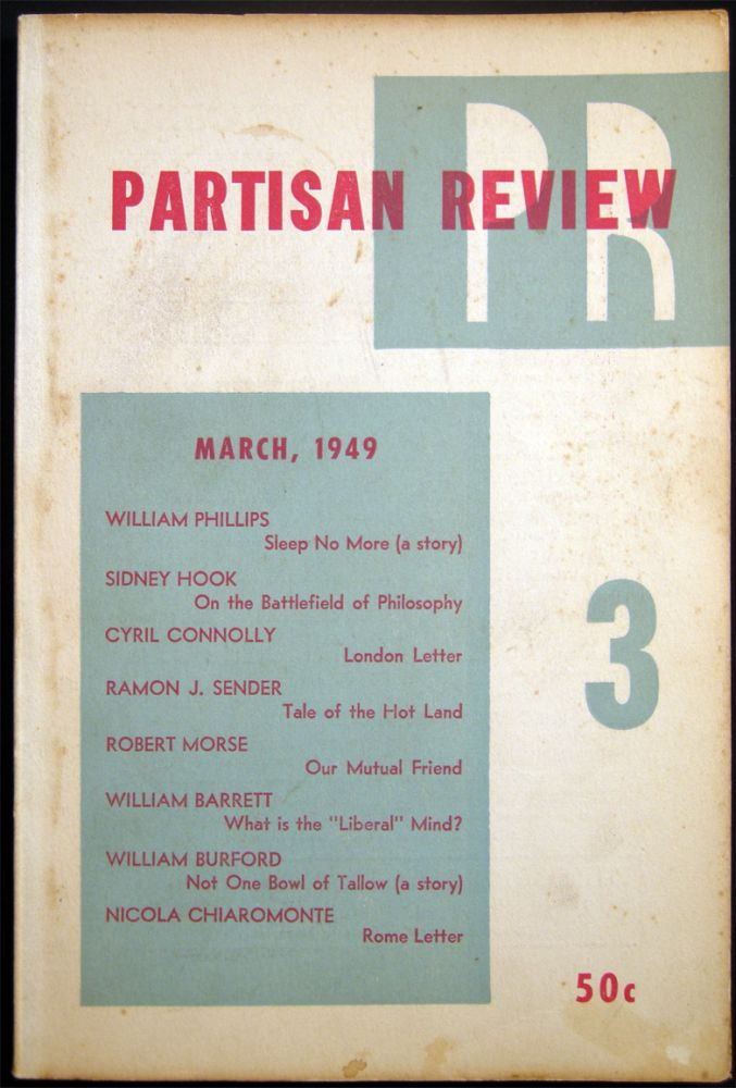 Partisan Review March, 1949 Volume XVI, No. 3. Americana - 20th Century - Periodical - Literature - Partisan Review.