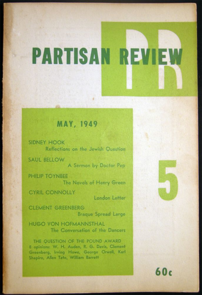 Partisan Review May, 1949 Volume XVI, No. 5. Americana - 20th Century - Periodical - Literature - Partisan Review.