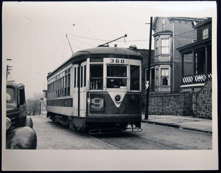 Photograph of New York City Third Avenue Streetcar Railway Car at Walnut St. In Yonkers, NY. Americana - 20th Century - Photography - Transportation - Rail.