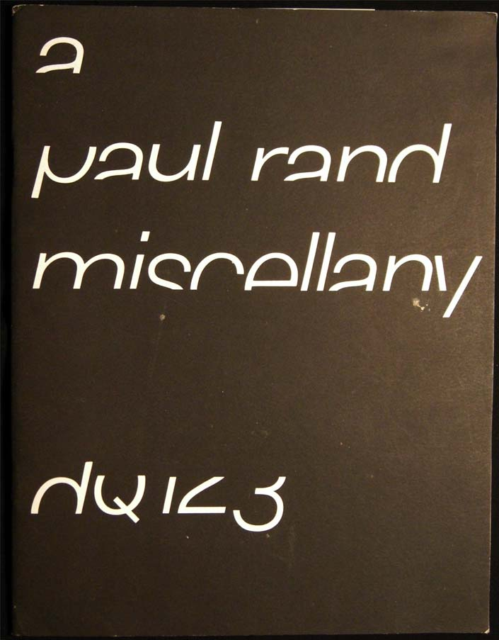 Design Quarterly 123 A Paul Rand Miscellany. Art - 20th Century - Periodical - Design Quarterly - Paul Rand.