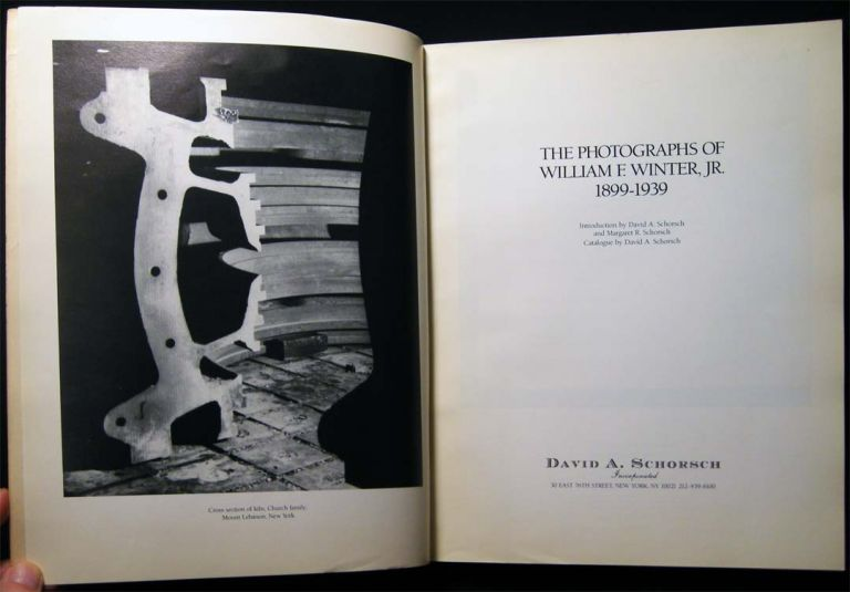 The Photographs of William F. Winter, Jr. 1899-1939 Signed By the Author with a Drawing, Presented to New York Abstract Expressionist Artist Mary Abbott. David A. Schorsch.