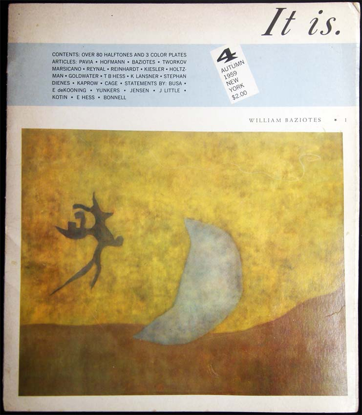 It Is. No. 4 A Magazine for Abstract Art Autumn 1959 New York. Art - 20th Century - Abstract Art - Periodical - It Is.