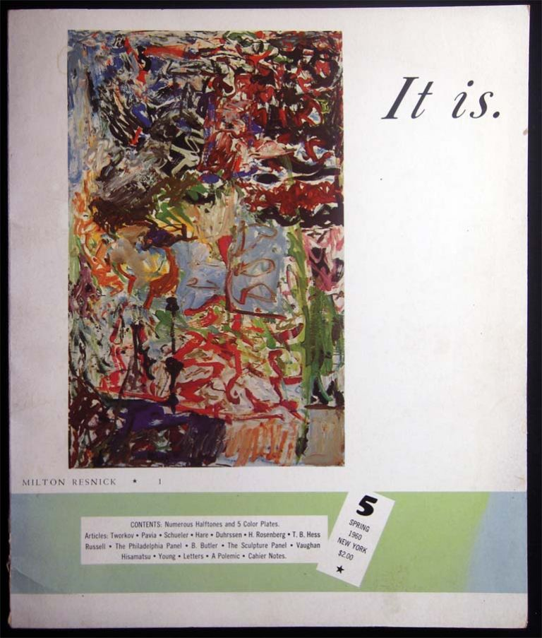 It Is. No. 5 Spring 1960 A Magazine for Abstract Art. Art - 20th Century - Abstract Art - Periodical - It Is.