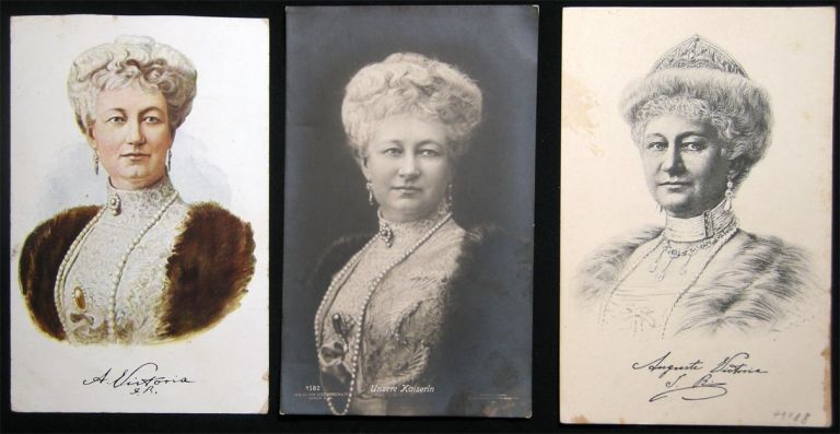 3 Early Auguste Victoria Kaiserin Cards. Europe Royalty.
