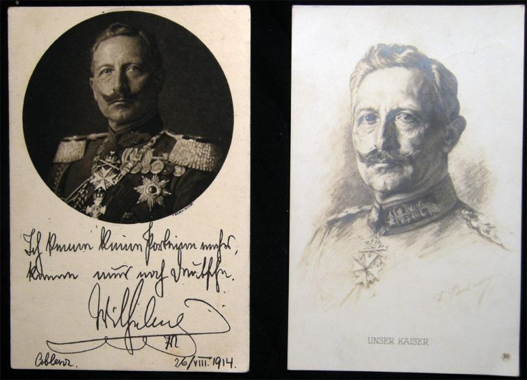2 Early Kaiser Wilhelm Portrait Cards Real Photo. Europe Royalty.