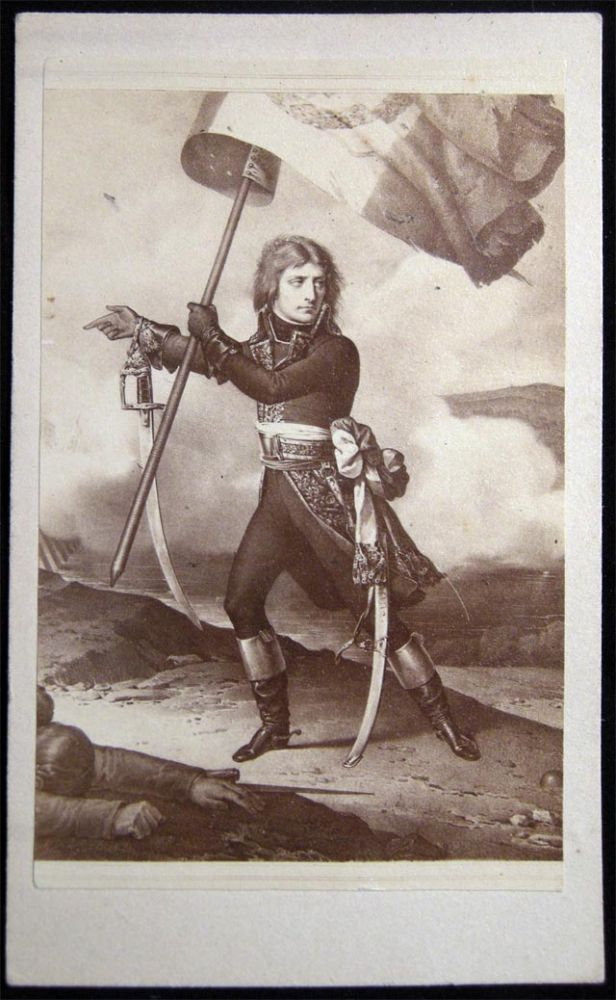 Early Napoleon At the Battle of the Arcole CDV. Napoleon.