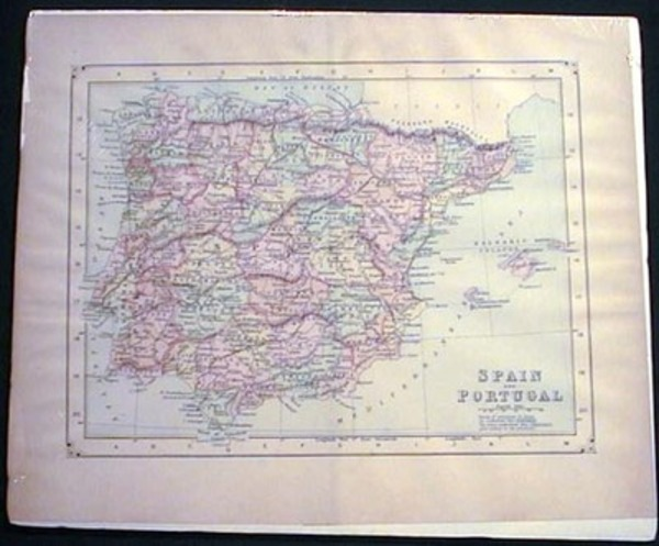 Map of Spain and Portugal. Map of Spain and Portugal.